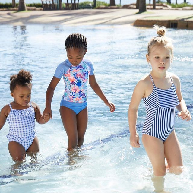 Whether she imagines herself as a mermaid or an Olympic swimmer, make sure she is kitted out in style! With these fun stripes or patterns, she'll be ready to take on the pool, beach or even just the sprinkler in the back garden.   Girls' swimwear from R140    #myexact #myexactstyle