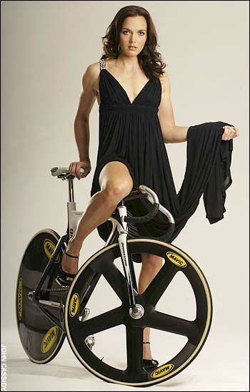 Nice looking track bike, oh yes, also the lovely looking Victoria Pendleton.