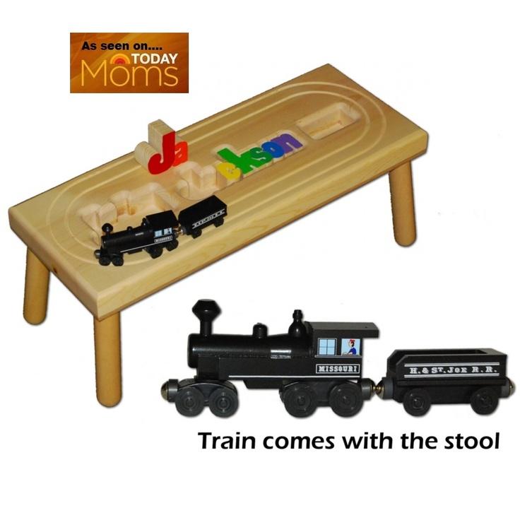 Toy Train Puzzle Stool Baby Nursery Decor Pinterest
