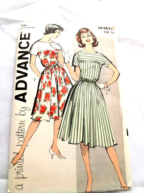 Vintage 1960 Advance 9811 UNCUT Sewing Pattern Misses' by CHARMRI, $12.00: Patterns Wishlist, Sewing Patterns Miss