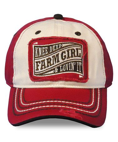 high crown baseball caps deep hats farm girl red knee cap