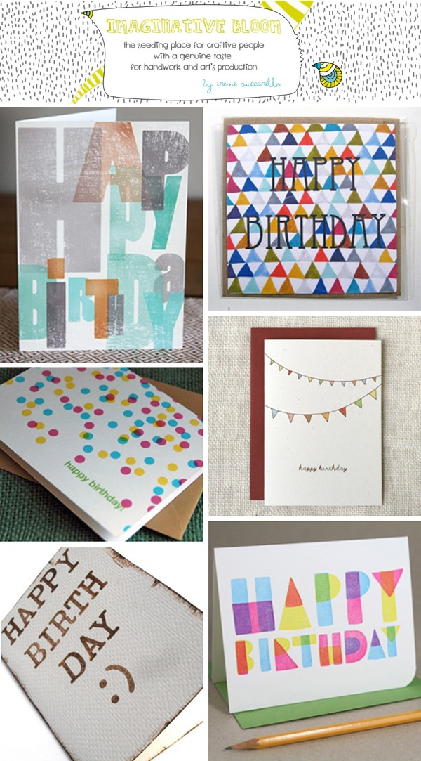 I love these birthday cards! By Seattle artist Jenny Wittlinger. wenduink.com