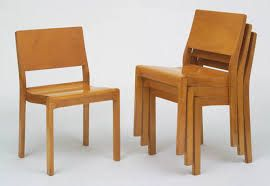 Stacking side chairs Alvar Aalto 1929.