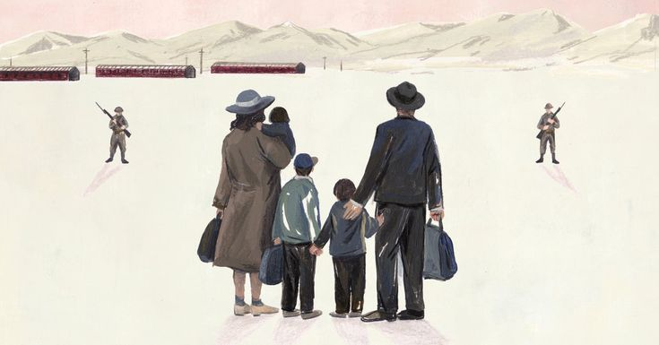 """From George Takei: """"The horror of the internment lay in the racial animus the government itself propagated."""" (Illustration: Sally Deng) http://nyti.ms/2qqgynh"""