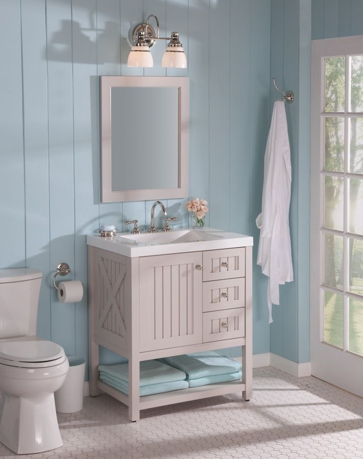 Martha Living Seal Harbor 30 In W X 22 D Bathroom Vanity Sharkey Gray With Top White S Brightest Ideas Pinterest