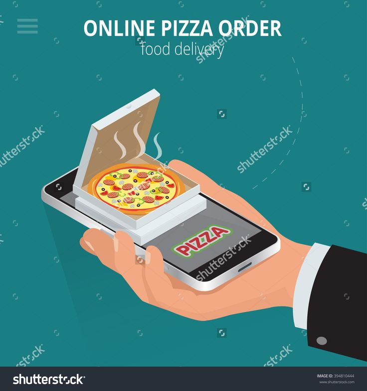 Online Pizza. Ecommerce Concept: Order Food Online Website. Fast Food Pizza Delivery Online Service. Flat 3d Isometric Vector Illustration. - 394810444 : Shutterstock