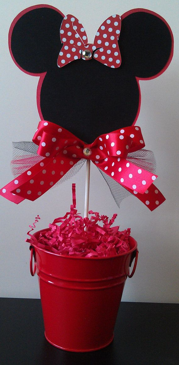 Minnie Mouse Happy Birthday Cake Topper/Centerpiece. $6.50, via Etsy.