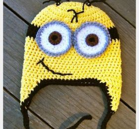 Minion+Crochet+Hat+Pattern.  I know two kiddies who would go crazy over this