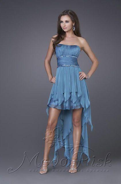Коктейльное короткое платье для выпускного бала, фото 5