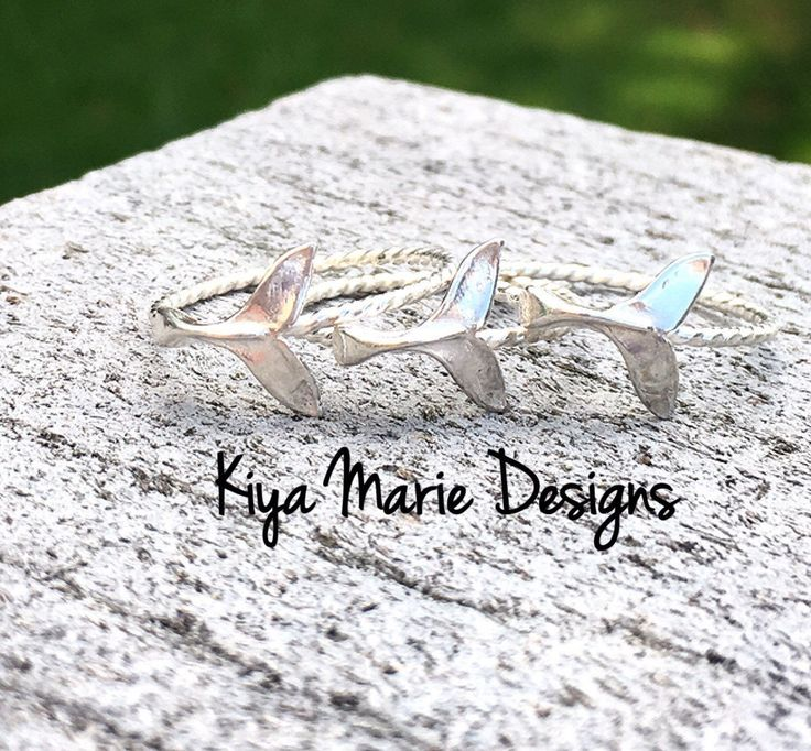 Mermaid tail Ring, whale tail ring, skinny band stack ring, Sterling Silver Argentium Silver Rings, Sea life nautical rings, beach ocean by KiyaMarieDesigns on Etsy https://www.etsy.com/listing/270696970/mermaid-tail-ring-whale-tail-ring-skinny