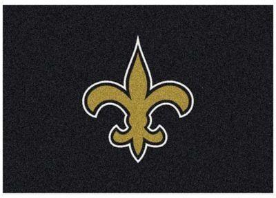 NFL New Orleans Saints 7-Foot 8-Inch x 10-Foot 9-Inch Large Team Spirit Rug