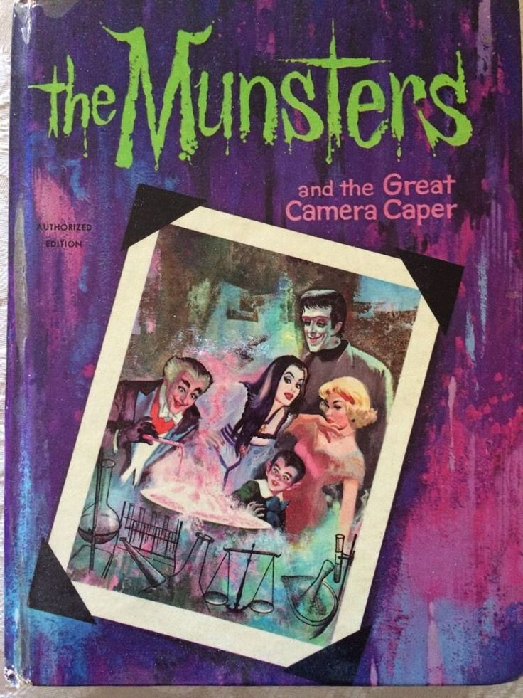 The Munsters And Great Camera Caper Whitman TV Adventure Book 1965