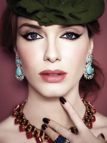 Mad Men's Christina Hendricks always looks incredible with her retro eyes and perfect pout!