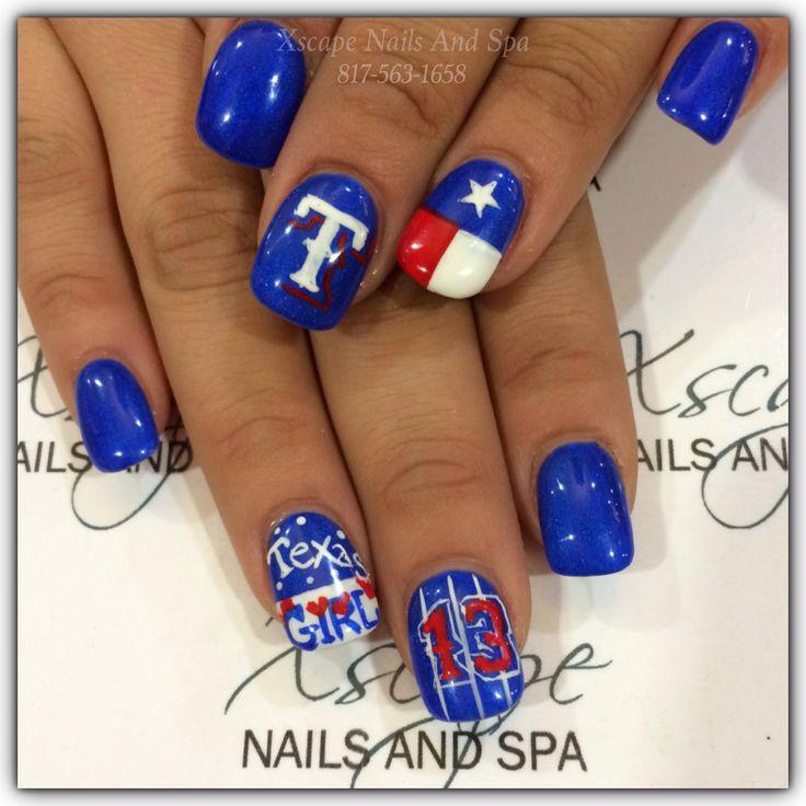 8 best nails! images on Pinterest | Baseball stuff, Baseball nails ...