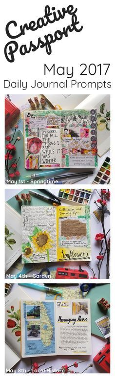 Creative Passport May 2017 Art Journal Prompts