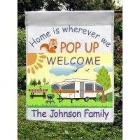 Home Is Where We POP Up Personalized Camper Garden Flag. This Is A Brightly  Colored