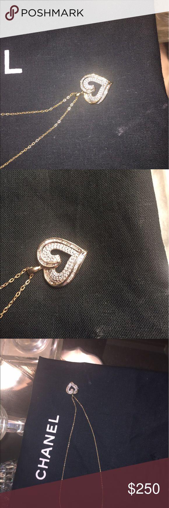Diamond heart necklace... real diamonds 💎! Diamonds 💎 are a girls bff!!! Jewelry Necklaces