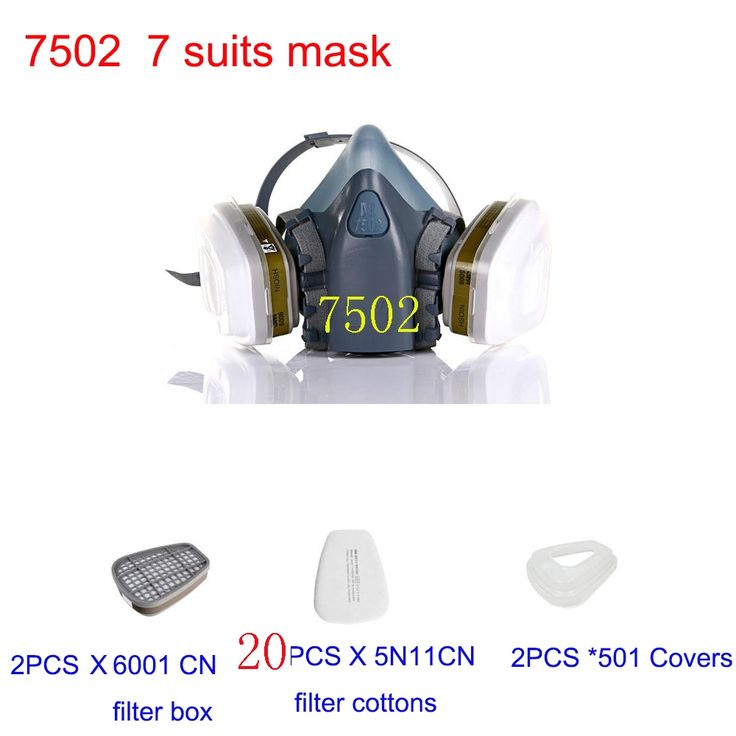 16.87$  Watch here - http://alil9g.shopchina.info/go.php?t=32697728643 - Mask 7502 7Suits Respirator Gas Mask Chemical Dust Filter Paint Dust Spray Masks Half face Mask,Construction/Mining  #magazineonlinewebsite