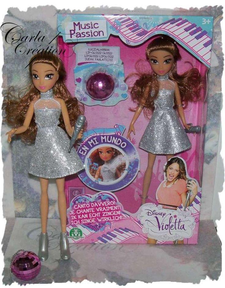 Violetta Chante En Mi Mundo Poupée Interactive Maquillage Gloss Rose Brillant