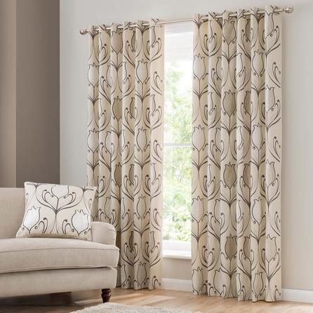 Lalique Cream Eyelet Curtains