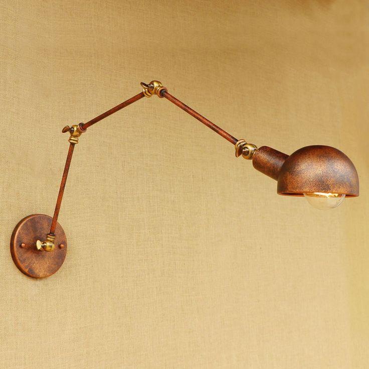 Rustic Loft Sryle Industrial Wall Light Fixtures Wandlampen Luminaire Swing Long Arm Lamp Vintage Wall Sconce Lampara De Pared