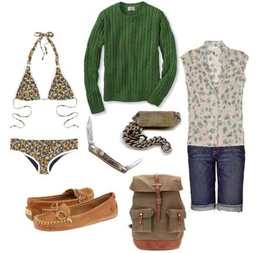 Summer camp outfit... This makes me laugh, Why would you wear such nice clothes to camp? That's no fun!
