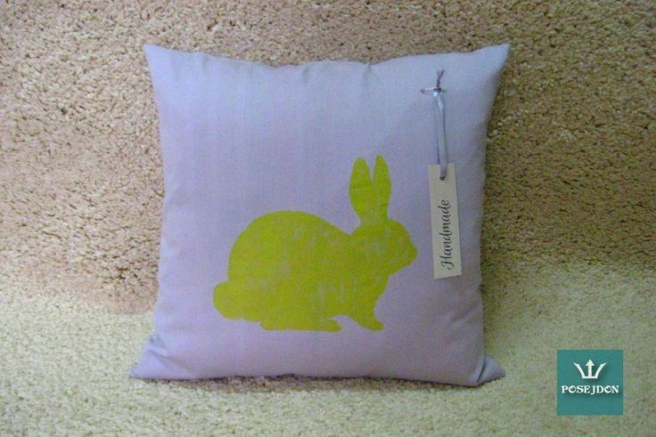 Poszewka limonkowy królik