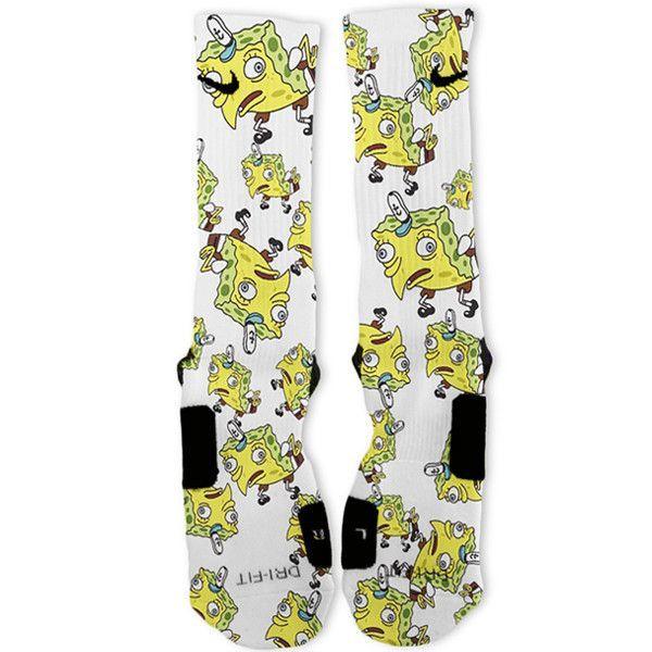 SpongeBob Meme SpongeMock Individuelle Nike Elite Socken – #   – LetsFunMemes