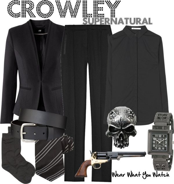 Inspired by Supernatural character Crowley played by Mark Sheppard.