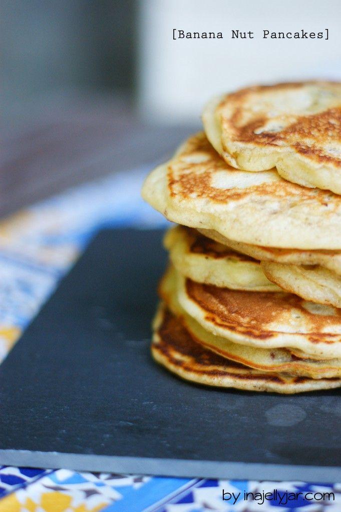 Für Frühstückstiger: Bananen-Nuss Pancakes | easy peasy banana pancakes with pecannuts