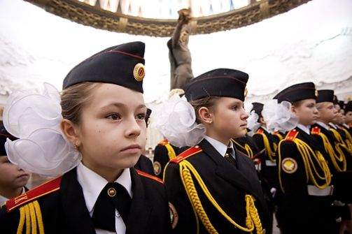 affiliation ceremony for new Russian cadets