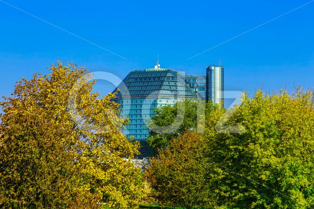 Qdiz Stock Photos Office Building in Colorful Trees,  #architecture #autumn #background #beautiful #branch #building #business #City #colorful #day #downtown #fall #green #modern #multicolored #nature #new #office #outdoors #scenic #sky #Street #style #sunny #town #tree #urban #view #yellow