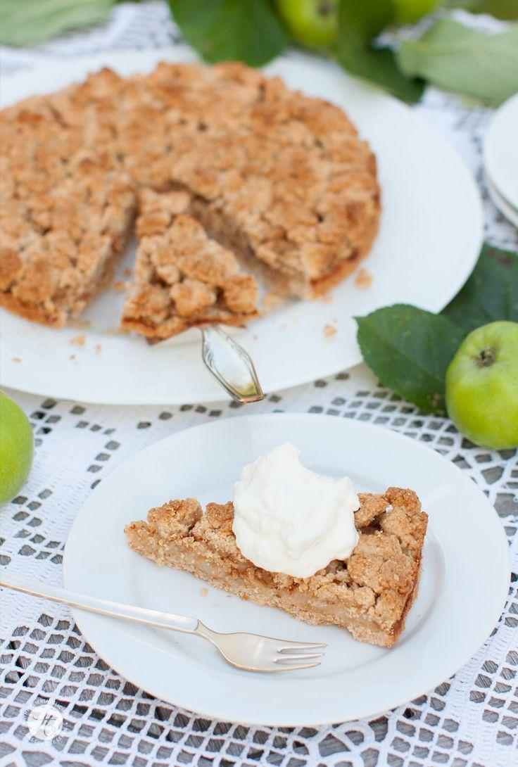 Rezept für Apfel-Knusper-Tarte mit Streuseln und Zimt von feiertäglich #ichbacksmir