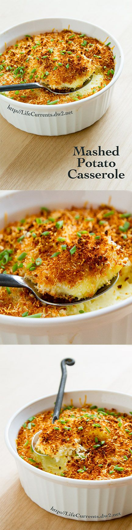 Mashed Potato Casserole a great side dish that's a little fancy! This will be a big hit at Eater dinner!