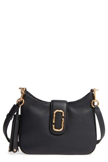 450 NWT NEW MARC JACOBS SMALL INTERLOCK LEATHER HOBO BAG PURSE BLACK   purses  fashion 3f31d27285775