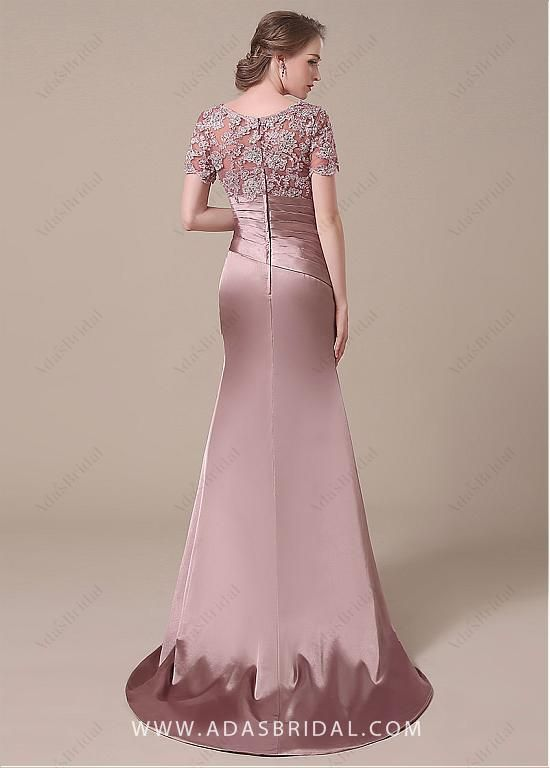 Buy discount Elegant Stretch Satin Scoop Neckline Lace Mermaid Mother of The Bride Dresses at Dressilyme.com