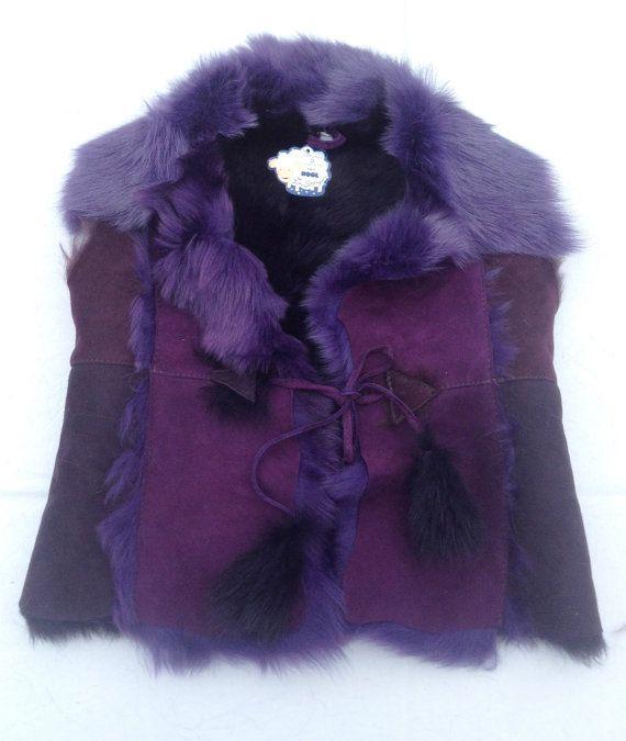 Shearling Vest Sheepskin Leather Vest Jacket Real Lambskin Fits 3-5 Yrs Old…