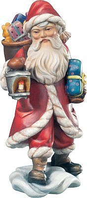 Babbo Natale - Babbo Natale con gerla e laterna, 006 cm