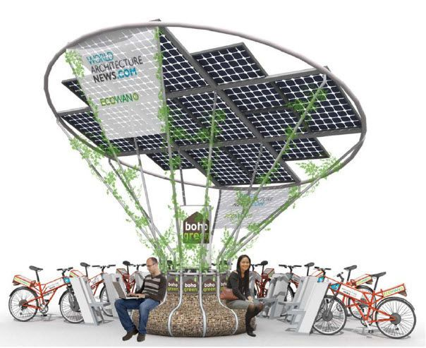 Solar Charging Station For Your e-Bike For The Win