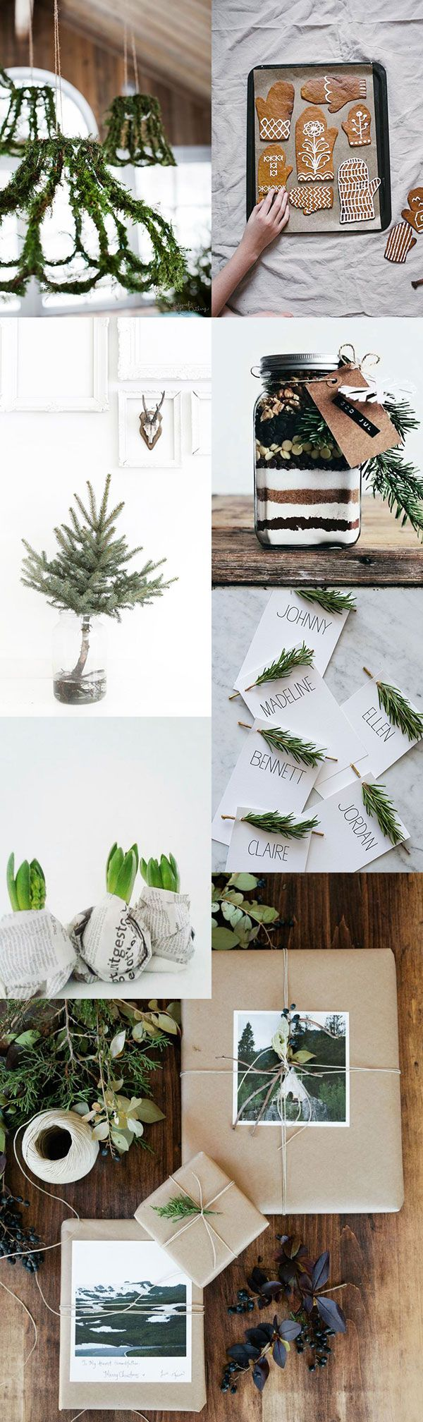 loving the white and greenery. so beautifully simple yet festive