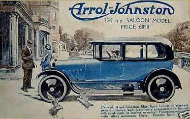 Arrol-Johnston Advert 15.9hp Touring Model