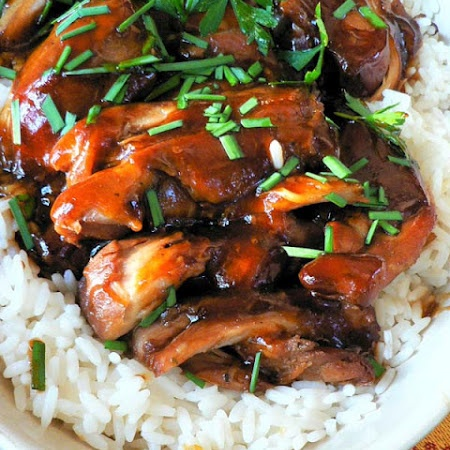 Crockpot Teriyaki Chicken.  Crock-Pot Chicken Teriyaki: 1lb chicken, 1 C chicken broth, ½ cup teriyaki sauce, ½ cup brown sugar, 3 garlic cloves (Cook on low 4-6 hrs, add veggies as desired)