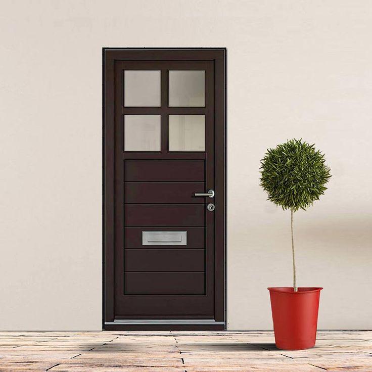 Dale High Performance Ruxley Door & Frame Set - Fully Decorated. #externaldoor #contemporarydoor #externalmoderndoor