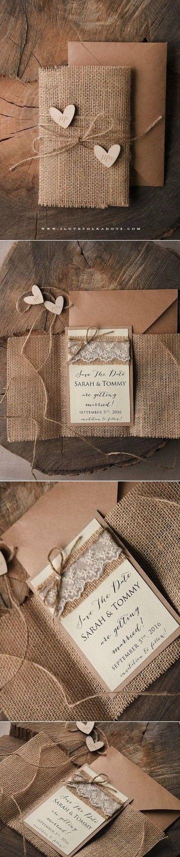 tarjetas de invitacion para casamiento rusticas