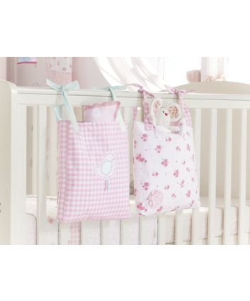 Mothercare Daisy Lane Cot Pockets - cot tidy - Mothercare