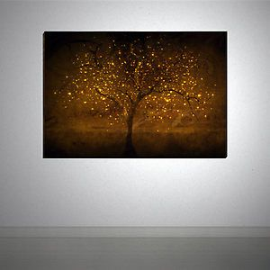 tree artwork... this would be perfect in family room!