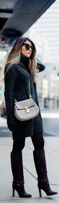 H&M Sweater Dress / Fashion By Pam Hetlinger