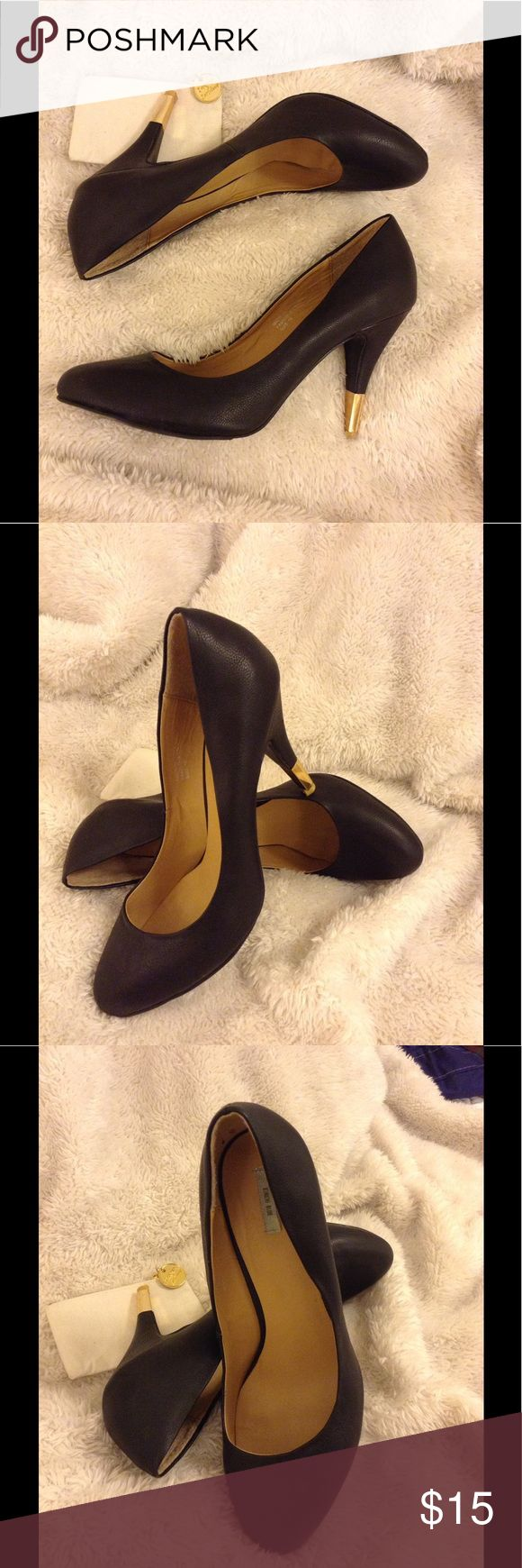 Urban outfitters Black Heals In good pre owned condition. Only worn a few times and very comfortable heels. Size 10 Urban Outfitters Shoes Heels