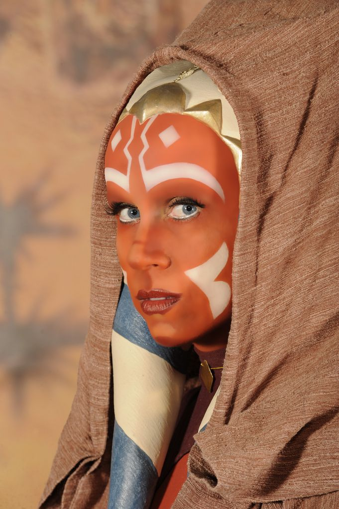 Ashley Eckstein (the voice of Ahsoka) cosplaying Ahsoka. Does this count as cosplay if she was the character?