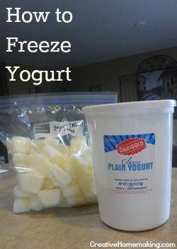 How to freeze yogurt for homemade smoothies.